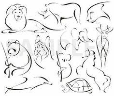 exquisite, animals, vinyl-ready, ornaments, ornamental art, decorative vector images, vector cliparts, cuttable graphics