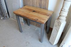 Reclaimed Wood and Steel Industrial Natural Night by newantiquity, $355.00