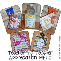 Teacher to Teacher Gift Ideas -- I will definitely do this with my team this coming school year :)
