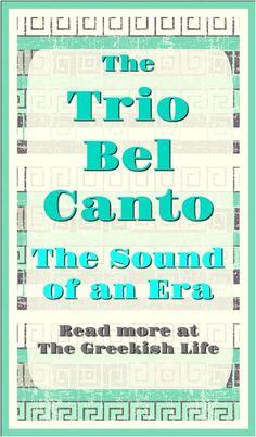 The Trio Bel Canto - The Greekish Life. Greek Music, Latin Music, Greek Flag, Urban People, Johnny Carson, One Of The Guys, Greek Language, Greek Culture, Beautiful Songs