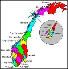 Map of the regions of Norway. As most places, the geography is what originally defines the regions. Norway is so mountainous and difficult to travel, that more than 20 dialects developed, the national costumes are all different, & slight variations in certain traditions.