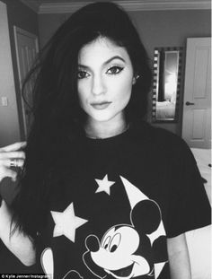 The selfies just keep on coming: Kylie Jenner showcased her Mickey Mouse top and full face of makeup in this pretty Instagram snap on Saturday