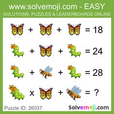 Solvemoji - Free teaching resources - Emoji math puzzle, great as a primary math starter, or to give your brain an emoji game workout. Mind Puzzles, Shape Puzzles, Logic Puzzles, Math Puzzles Brain Teasers, Maths Starters, Numerology Horoscope, Tricky Riddles, Math Talk, Math Challenge