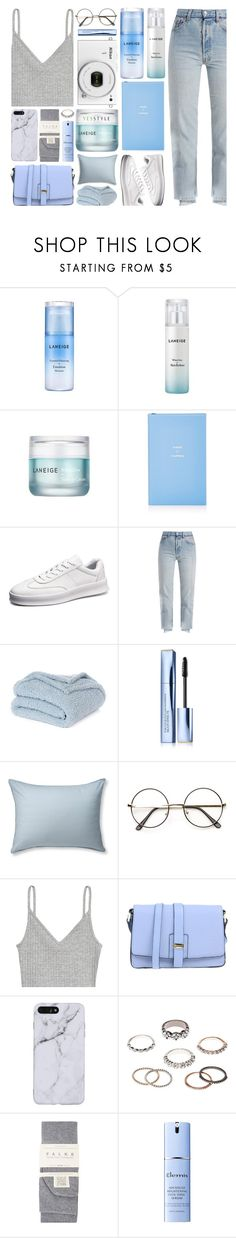 """YESSTYLE.com"" by monmondefou ❤ liked on Polyvore featuring Laneige, Smythson, Vetements, Nikon, Nordstrom Rack, Estée Lauder, L.L.Bean, Innue, Charlotte Russe and Falke"