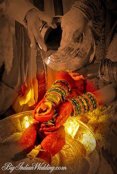 The ritual of kanyadaan in Hindu weddings