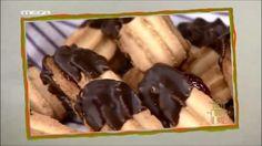 συνταγές   MEGA TV ΚΑΝ' ΤΟ ΟΠΩΣ Ο ΑΚΗΣ Cookie Recipes, Biscuits, Sweet Tooth, Cookies, Chocolate, Desserts, Food, Kitchen, Kitchens