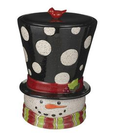 Love this Snowman Head Cookie Jar on #zulily! #zulilyfinds