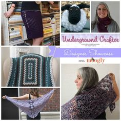 Marie Segares of Underground Crafter - a Designer Showcase on Moogly, including 5 FREE crochet patterns!