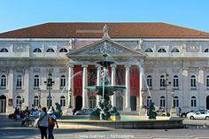 Teatro Nacional D. Maria II Lisbon, Portuguese, Passion, House Styles, Lisbon Portugal, City, Monuments, Teatro, Lugares