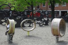 And this is what it looks like when you let the artists design the playgrounds...Art Playgrounds of Copenhagen | Playscapes