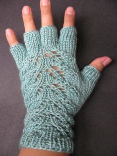 Ocean Spray Lovely Leaves Fingerless Gloves by BugEater for $42.00