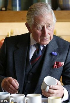 Charles also tried his hand at some handicrafts during his Scottish tour of local businesses