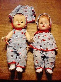 2-Vintage-Sunbabe-Vinyl-Baby-Dolls-Babee-Bee-So-Wee-Ruth-E-Newton-Rubber-13