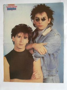 Climie Fisher Nick Kamen Poster from Greek Mags clippings 1970s 1990s | eBay