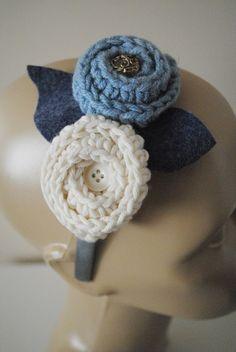 Crochet hair accessories Crochet Floral Bridesmaids headband - NO pattern - color inspiration