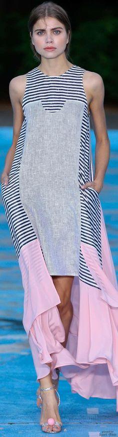 Perret Schaad ~ Spring Black + White Stripe Maxi Dress 2016 RTW