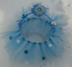 Disney FROZEN TUTU Easter basket & hairclips Bows - UNIQUE Handmade