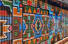 corrugated metal wall mural