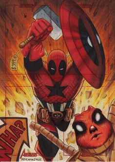 the Avenging Deadpool, with Deadpool Squirrel...it makes no sense just like Deadpool -- by *shadowchaser076 -