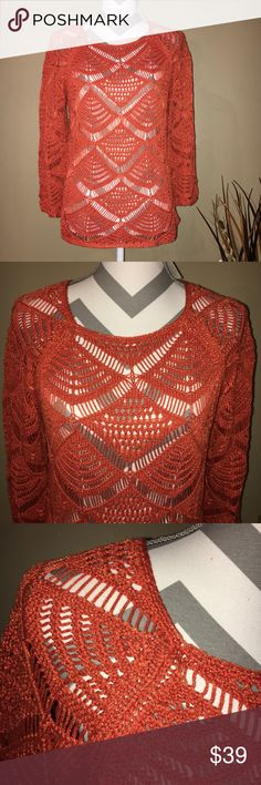 NWT Chico's Open Pontelle Trailblaze Sweater Still new with tags!  Great vibrant color. Size 1(Medium). 66% cotton 34% Nylon. Chico's Sweaters