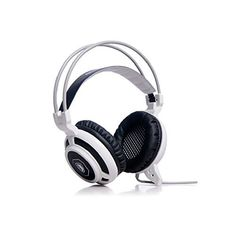 Afunta Sades MoYu 3.5mm plug Over Ear Wired White Stereo Headset Headband Gaming Earphone Bass Noise Canceling Isolating Headphones with Microphone Breathing Colorful LED light for PC Gamer Gaming Tablet Laptops Mobile Phone MP3 MP4   // Look the price and customers reviews…