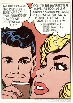 New Yorker AD - Coffee break! (1960) artwork by Roy Lichtenstein #print AD