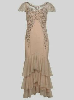 Nude Affordable Wedding Dress - Monsoon