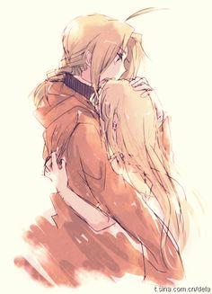 Fullmetal Alchemist...sigh...Edward and Winry.... such a cute couple.