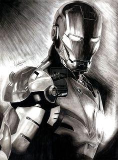 Iron Man in black and white just screams class. -Elegant Armor Iron Man by Anthony-Woods Ironman Tattoo, Hulk Tattoo, Iron Man Kunst, Iron Man Art, Marvel Tattoos, Iron Man Wallpaper, Marvel Art, Marvel Dc Comics, Comic Books Art