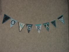 Pennant made with Pennant Cricut cartridge