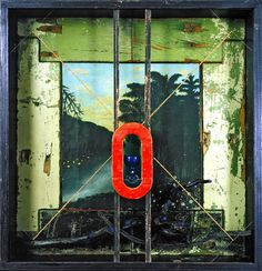 """Saatchi Online Artist: Todd Bartel; Found Objects, 2000, Assemblage / Collage """"Abulic Terrain: Affecting Currents, (Salvage Series)"""""""