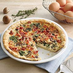 Mushroom, Gruyère, and Spinach Quiche | CookingLight.com #myplate #protein #dairy #veggies