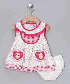 Take a look at this Pink Kitty Dress & Diaper Cover - Infant on zulily today!