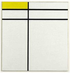 blastedheath: Piet Mondrian (Dutch, 1872-1944), Composition A, with Double Line and Yellow, 1935. Oil on canvas, 59.4 x 56.2 cm.