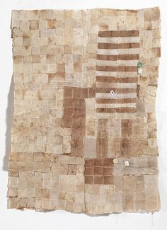 How cool is this?  A quilt panel made with teabags!