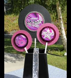 poparazzi pop star printable decorations from Soiree-EventDesignShop.com