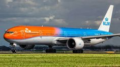 "KLM Royal Dutch Airlines Boeing 777-306/ER in ""Orange Pride"" livery"