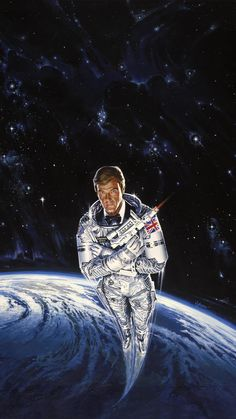 High resolution key art image for Moonraker The image measures 2400 * 3945 pixels and is 1917 kilobytes large. James Bond Movie Posters, Old Movie Posters, James Bond Movies, Film Posters, Vintage Posters, James Bond Style, Pierce Brosnan, Roger Moore, Keys Art