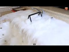 Dropping Two Pounds of Dry Ice in a Sink Full of Water #BeFearless