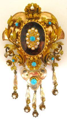 Astounding Victorian Treasure--Brooch & Earring Set