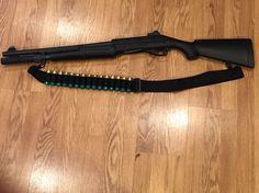 My Benelli Nova with extended magazine tube & ammo sling.