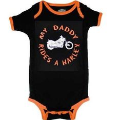 Harley Davidson Bodysuit My Daddy Rides A Harley Infant Onesie (12-18 Months) RockWaresUSA,http://www.amazon.com/dp/B0085B4K8E/ref=cm_sw_r_pi_dp_ZH5ksb1PJDHHMMKV
