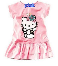 3af093ae9 Hello Kitty Summer Dress Kids Clothes Girls HelloKitty Party Very Cute ! !  Like and share