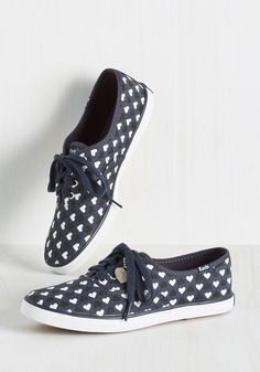Let's Walk About Love Sneaker. A skip down the sidewalk in these navy blue Keds is guaranteed to make your heart skip too! #blue #modcloth