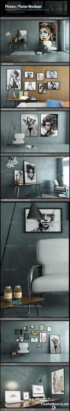 Picture / Poster Mockups 7248389 » Graphicriver free . Free Download Psd Source , Tutorials , Ve ...