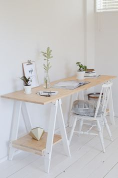 trestle desk made from new zealand pine