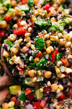 Garbanzo Bean Salad #Chickpea #garbanzobeans #garbanzos #chickpeas #cook #dinner #vegan #veganrecipes #veganfood #healthylifestyle #healthy #healthyfood #nutrition Garbanzo Bean Recipes, Cooking Garbanzo Beans, Bean Salad Recipes, Vegetarian Recipes, Healthy Recipes, Garbanzo Bean Salads, Healthy Foods, Chickpea Feta Salad, Garbonzo Beans