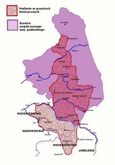 Znalezione obrazy dla zapytania podlasie mapa Map, Location Map, Maps