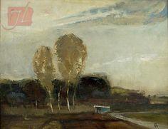 Bernath Aurel - Rural Scene Scene, Landscape, Trees, Painting, Art, Craft Art, Scenery, Tree Structure, Painting Art