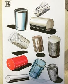 Material Culture ; cylinders next week hw.#copicmarkers #copic #productdesignsketching #productdesignsketch #productdesign #materials #markers#markermasters #mydrawing #illustration #sketches #sketching #sketchaday #sketchbook #productdesign #productdesignsketch #productdesignsketching